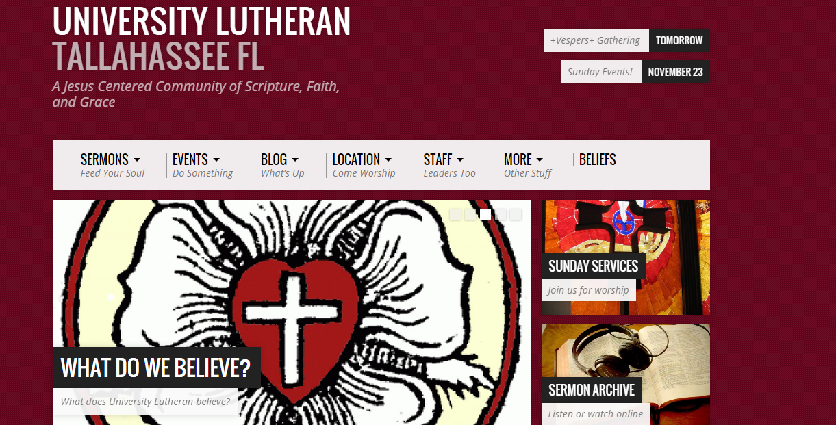 Visit University Lutheran's website